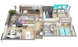 Render1-EA Interiorismo-dooko-edificio purpura-tu hogar singular-vivienda nueva en villena
